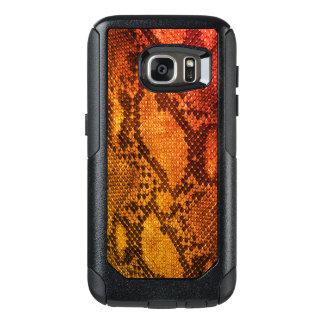Orange Schlangenhaut-Art Samsungs-Hüllen OtterBox Samsung Galaxy S7 Hülle