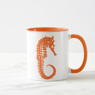 Orange Seepferd-Tasse Tasse