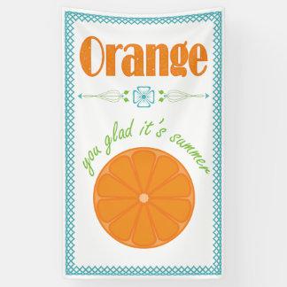 Orange Sie froh sein Sommer mit Gitter-Grenze Banner