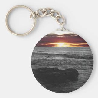 Orange Sonnenuntergang Schlüsselanhänger