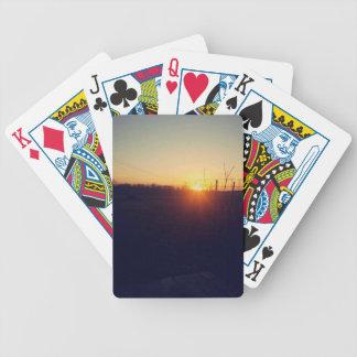 Orange Sonnenuntergang Spielkarten