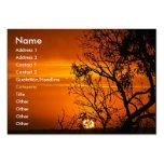 Orange Sonnenuntergang-Visitenkarte