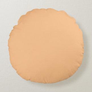 Orange Sorbett-Farbe Rundes Kissen
