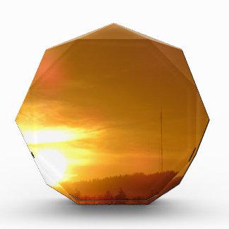 Orange Strudel Acryl Auszeichnung