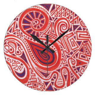 Orange Strudel-Uhr Große Wanduhr