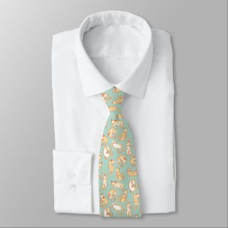 Orange Tabby-Katzen-illustriertes Muster Krawatte