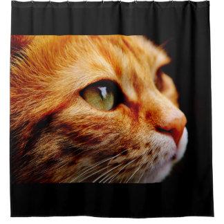 Orange Tiger-Katze Duschvorhang