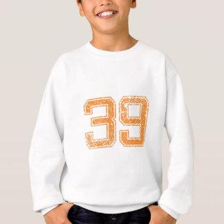 Orange trägt Jerzee Zahl 39.png zur Schau Sweatshirt