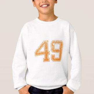 Orange trägt Jerzee Zahl 49.png zur Schau Sweatshirt