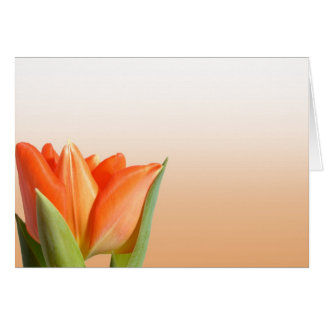Orange Tulpe-Grüße Karte