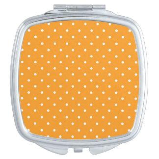 Orange Tupfen-Entwurf Taschenspiegel