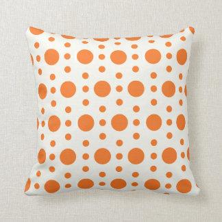 Orange Tupfen-Retro Entwurfs-Kissen Kissen