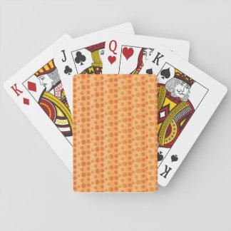 Orange Tupfen Spielkarten
