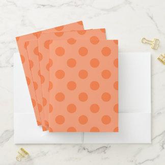 Orange Tupfen-Taschen-Ordner Mappe