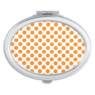Orange Tupfen Taschenspiegel