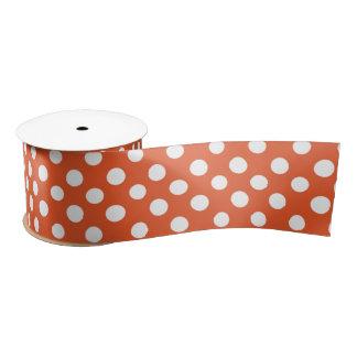 Orange Tupfenband Satinband