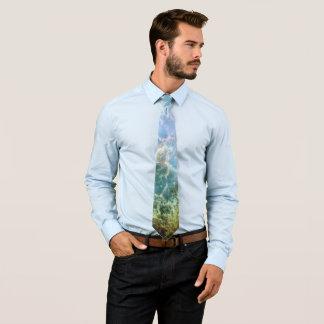 Orange u. grüner Nebelfleck Bedruckte Krawatten