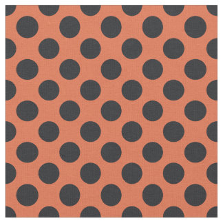 Orange u. schwarzes Tupfen-Gewebe Stoff