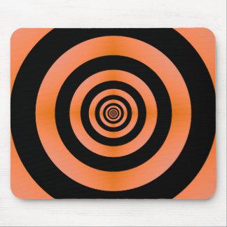 Orange u. schwarzes Ziel Mousepad