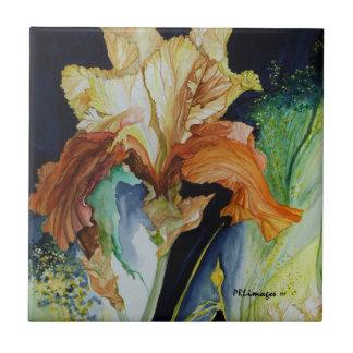 Orange und gelbe Iris-Fliese Fliese