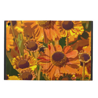 Orange und gelber Echinacea-Blumen ipad Luftkasten