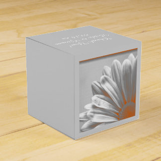 Orange und graue Wedding Blumenhöhepunkte Geschenkschachtel