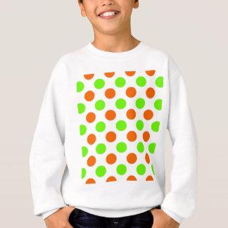 Orange und grüne Tupfen Sweatshirt