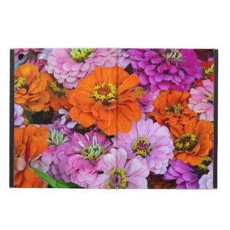 Orange und lila Zinnia-Blumen ipad Luftkasten