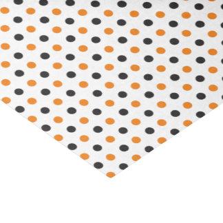 Orange und schwarzes Halloween-Seidenpapier Seidenpapier