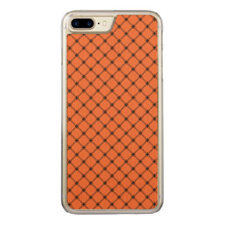 Orange und schwarzes Muster Halloweens Carved iPhone 8 Plus/7 Plus Hülle