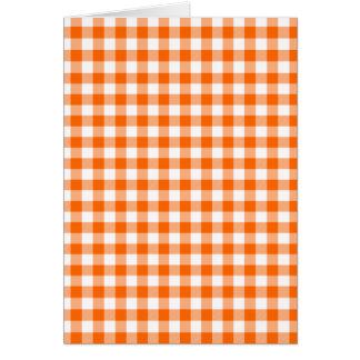 Orange und weißer Gingham Karte