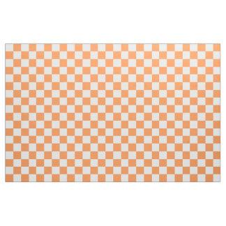 Orange und weißes kariertes Gewebe Stoff