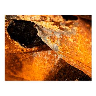 orange verdrehtes Metall des städtischen Postkarte