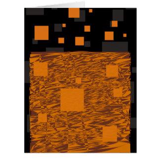 Orange wachsames Floss abstrakter schwarzer Kasten Karte