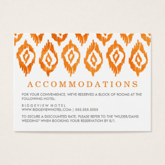 Orange Wedding Einsatz Ikat Aquarell-| Jumbo-Visitenkarten