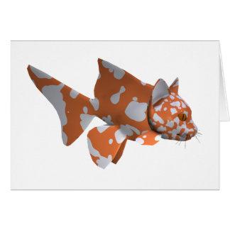 Orange-Weißer gepunkteter Wels Grußkarte