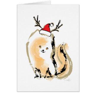 Orange weißes Weihnachtskatze Karte