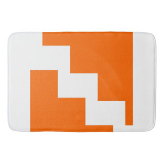 Orange Zickzack Bad-Matte Badematte