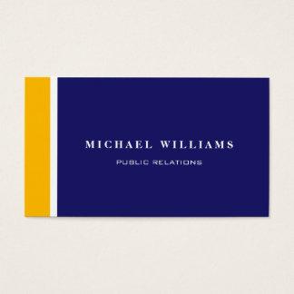 Orangefarbenes Weißes Blau Moderner Einfacher Visitenkarten
