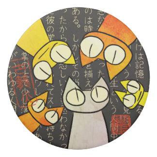 Orangen-Anstarrenlos Katzen Radiergummi 1