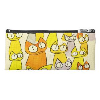 Orangen-Anstarrenlos Katzen Stiftetasche