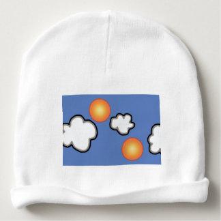 Orangen im Wolken-kundenspezifischen Babymütze