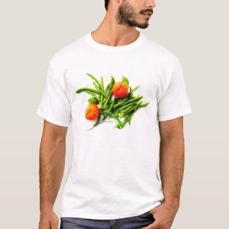 Orangen und grüne Bohnen-T - Shirt