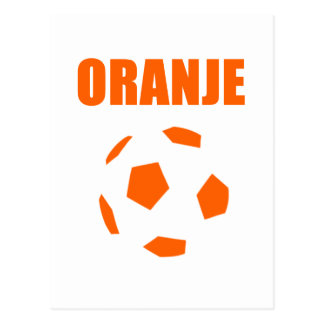 Oranje - Nederland Voetball T - Shirts Postkarte