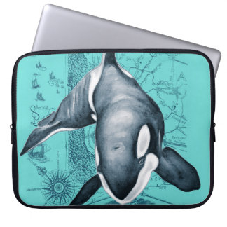 Orca-Karte aquamarin Laptop Sleeve