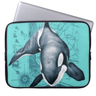 Orca-Karte aquamarin Laptop Sleeve