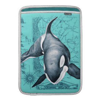 Orca-Karte aquamarin MacBook Sleeve
