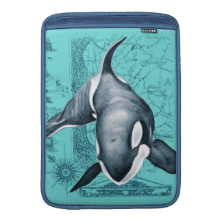 Orca-Karte aquamarin Sleeve Fürs MacBook Air