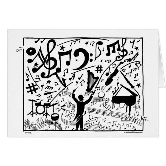 Orchesterlabyrinth ziert diese Grußkarte! Karte