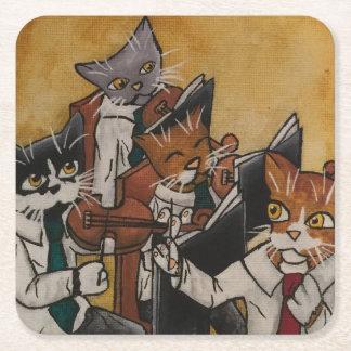 Orchestrale Katzen Rechteckiger Pappuntersetzer